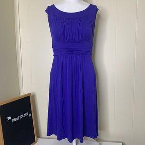 Purple Sleeveless Midi Summer Comfy Dress Medium